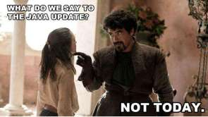 what do we say to the java update