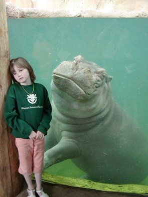 Emo Hippo and friend