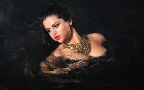 Selena in the water
