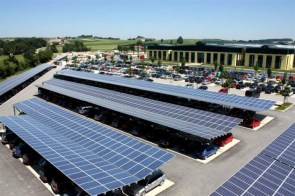 Solar car lot