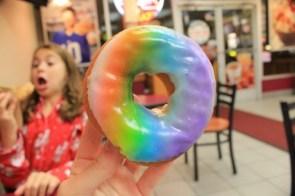 rainbow glaze donut