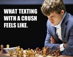 what texting with a crush feels like