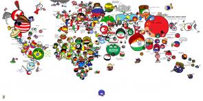 world map ball