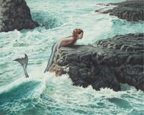 mermaid and bottle