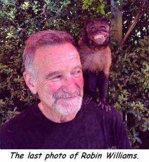 The last photo of Robin Williams