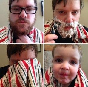 after shaving