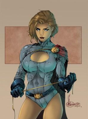 power girl looks mean