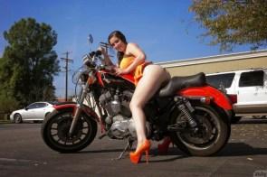 noelle easton on a motorcycle
