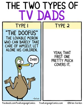 the two types of tv dads
