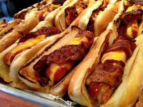 Bacon Wrapped Cheese Dogs