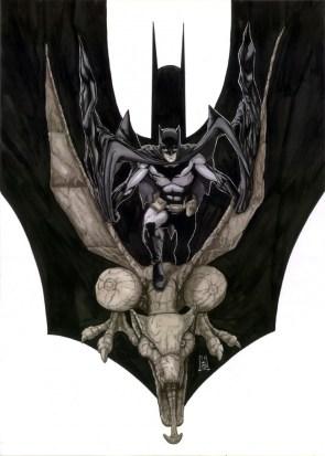 Batman on a Gargoyl