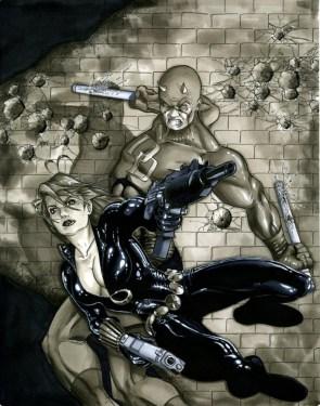 Black Widow Daredevil by kinggoji62