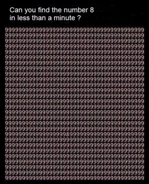 Find the Number 8