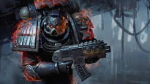 Flaming Space Marine
