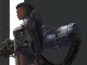Girl with SciFi Gun