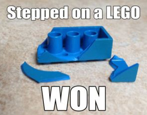 Stepped on a lego