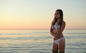 White Bikini Wallpaper