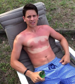 batman skin cancer