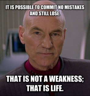 it is possible to commit no mistakes and still lose