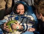 Oleg Artemyev with a melon