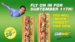 subway 911 deal