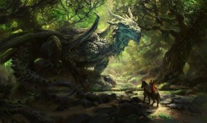 dragon in forest