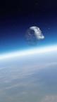 Death Star in orbit