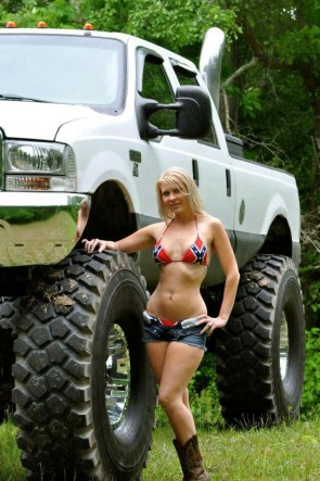 Redneck whore with whore truck