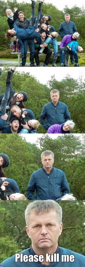 goofy family photo