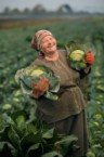 A happy farming woman