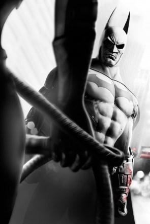 Batman staring at catwoman's sweet tits