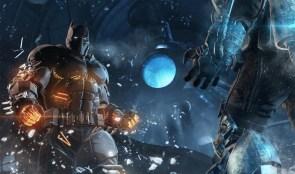 Batman vs blue ice man