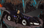 Batmobile with sexy girl