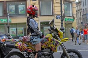 Biking in a skirt