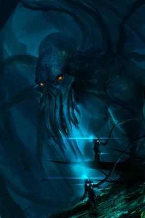 In the dark depths