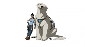 Korra and her Polar Bear Dog