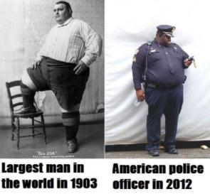 Largest Man in the world vs Police