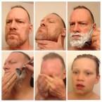 Man after shaving