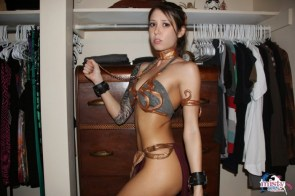 Misty Gates as Slave Leia