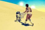 R2-D2 vs Woman