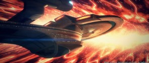 The Enterprise B hits some turbulance