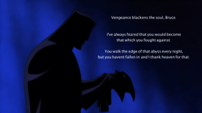 Vengeance blackens the soul