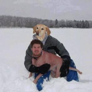 karl and his human