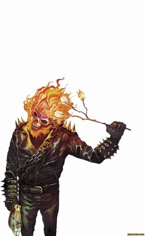 Ghost Rider Cooking Marshmellows