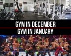 Gym in January