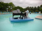 Piano over pool