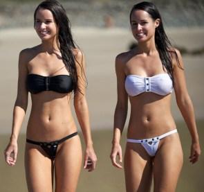 White and Black Bikinis
