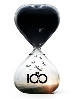 the 100 vertical title card