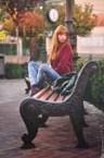 ginger on bench