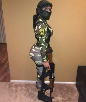 Camo Soldier Girl